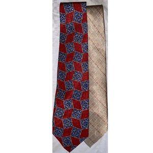 Robert Talbott Pierre Cardin Tall Silk Neck Tie